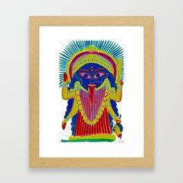 Goddess of India kali Framed Art Print