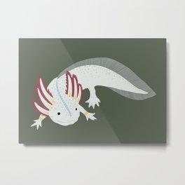 Happy Axolotl Metal Print