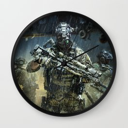 Night time Sniper Hunting Wall Clock