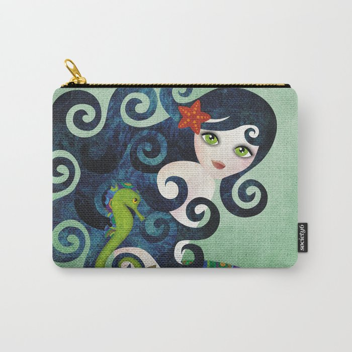 Aquamarine Mermaid Carry-All Pouch