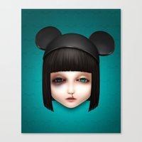 misfits Canvas Prints featuring Misfit - Abigail by Raymond Sepulveda