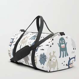 Monsters Prints patterns Duffle Bag