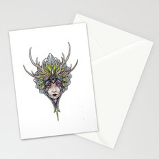 crowned girl Stationery Cards