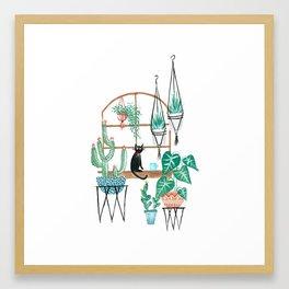 Plants Kitty Framed Art Print