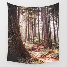 Oregon Coast Forest | Spruce Trees in the PNW | Travel Photography Wall Tapestry