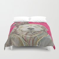 marley Duvet Covers featuring The Marley Series: Czarley by Katie Duker