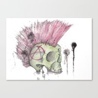anarchy Canvas Prints featuring Anarchy  by Werewhal