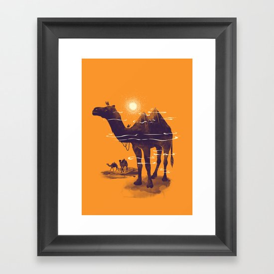 Walking Pyramid Framed Art Print