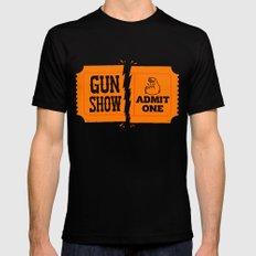 Ticket to the Gun Show MEDIUM Black Mens Fitted Tee