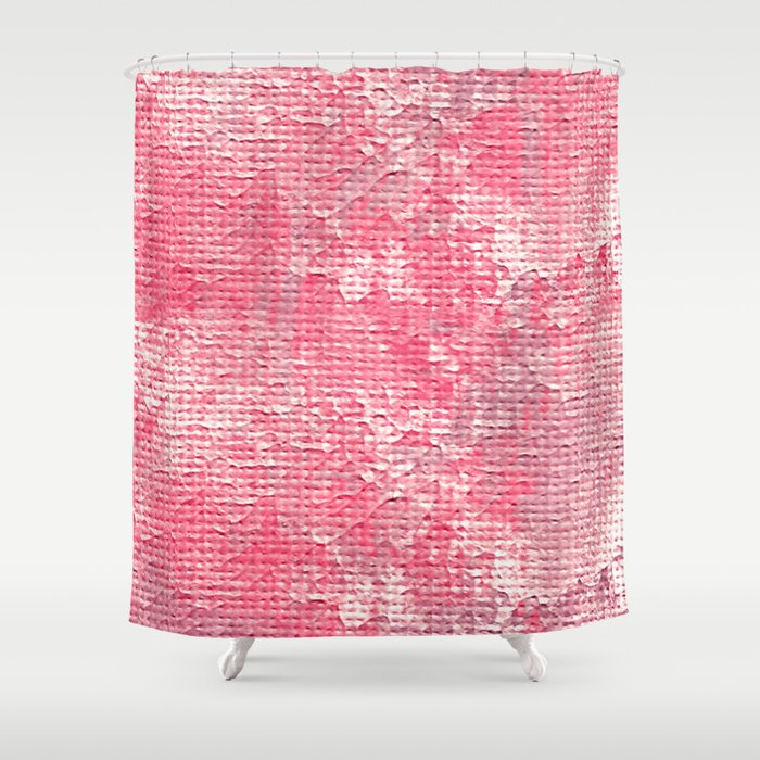 Pink Wall Shower Curtain
