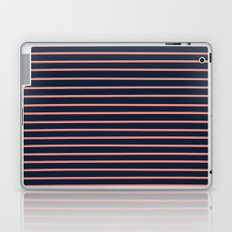 Navy and Coral Stripes Laptop & iPad Skin