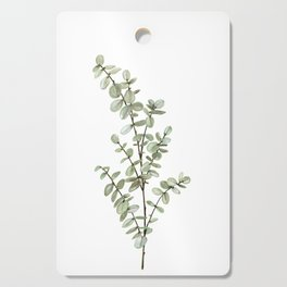 Baby Blue Eucalyptus Watercolor Painting Cutting Board