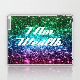 Wealth Affirmation Galaxy Sparkle Stars Laptop & iPad Skin