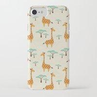 giraffes iPhone & iPod Cases featuring Giraffes by BlueLela