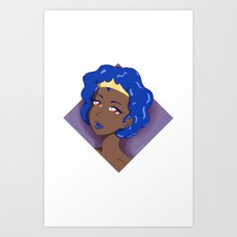 Blue Diamond Art Print