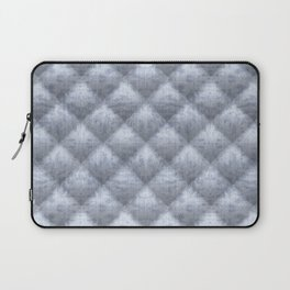 Quilted Soft Blue Velvety Pattern Laptop Sleeve