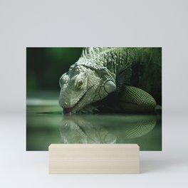 Drinking Iguana Mini Art Print