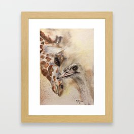 "240. ""Sheila and Sandy"" by M.Viljoen Framed Art Print"