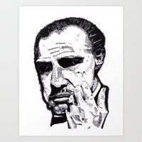 godfather Art Prints featuring The Godfather by tyler Guill