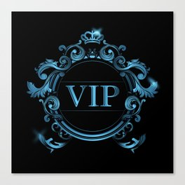 VIP in Blue and Black Canvas Print