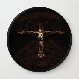 Crucified - Photography print Wall Clock