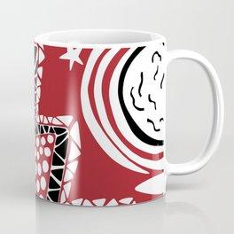 Soul Of The Dream Desert - Star Gazer (Black and Red Edition) Coffee Mug