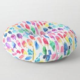 Rainbow Watercolor Popsicles Ice Cream Cones Floor Pillow