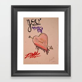 Drawing: You Made My Heart Melt Framed Art Print