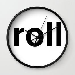roll Wall Clock