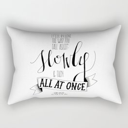 I Fell In Love The Way You Fall Asleep | John Green Quote Print Rectangular Pillow