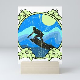 Surfing Surfer Wave-rider Water-sport Ocean GIft  Mini Art Print