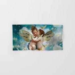 """Angels in love in heaven with butterflies"" Hand & Bath Towel"