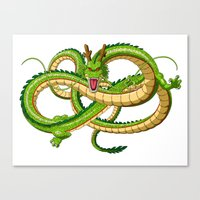 dragon ball Canvas Prints featuring Shenron Dragon ball by OverClocked