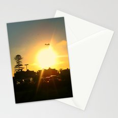 Air Plane In The Sun Stationery Cards