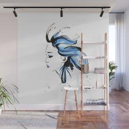 Blue hair Wall Mural