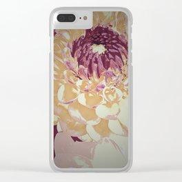 Iced Dahlias Clear iPhone Case