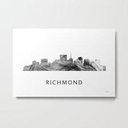 Richmond, Virginia Skyline WB BW Metal Print