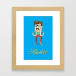 Hipster Johnny Framed Art Print