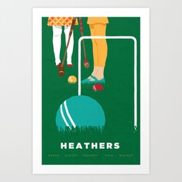80s TEEN MOVIES :: HEATHERS Art Print