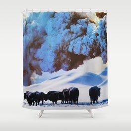 Buffalo Blast Shower Curtain