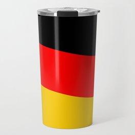 Black Red and Yellow German Flag Wave Travel Mug