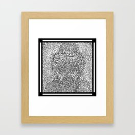 A Blues Man Mazed Framed Art Print