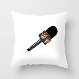 The Original Sez Me microphone Throw Pillow