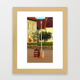 Tree in apple wine barrel   conceptual photography Framed Art Print