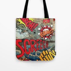Hiroshige Comic Pop Art Tote Bag