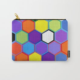 Happy Hexagons Carry-All Pouch