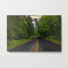 seattle Evergreen  Metal Print