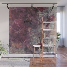 watercolors with splashes Wall Mural