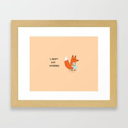 Fox & Duck - I Accept Our Differences Framed Art Print