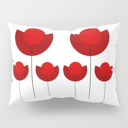 Simple red Tulips Pillow Sham